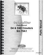 Parts Manual for Caterpillar D4D Crawler