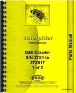 Parts Manual for Caterpillar D4E Crawler