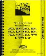 Operators Manual for Caterpillar D4E Crawler