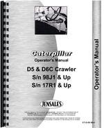 Operators Manual for Caterpillar D5 Crawler