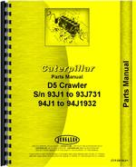 Parts Manual for Caterpillar D5 Crawler