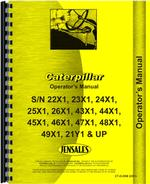 Operators Manual for Caterpillar D5B Crawler
