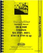 Operators Manual for Caterpillar D6B Crawler
