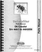 Parts Manual for Caterpillar D6B Crawler
