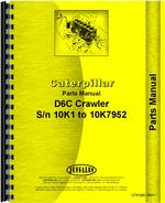 Parts Manual for Caterpillar D6C Crawler