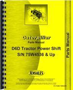 Parts Manual for Caterpillar D6D Crawler
