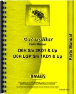 Parts Manual for Caterpillar D6H Crawler