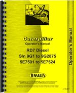 Parts Manual for Caterpillar D7 Crawler