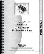 Parts Manual for Caterpillar D7F Crawler