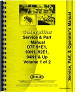 Operators Manual for Caterpillar D7F Crawler