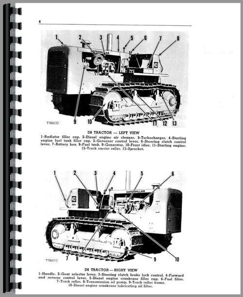 Operators Manual for Caterpillar D8 Crawler Sample Page From Manual