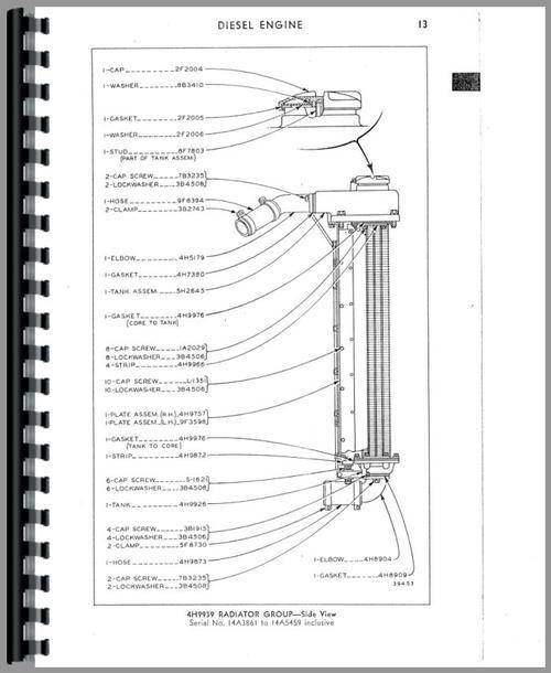 Parts Manual for Caterpillar D8 Crawler Sample Page From Manual