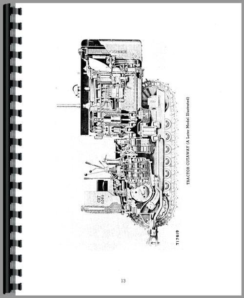 Service Manual for Caterpillar D8 Crawler Sample Page From Manual