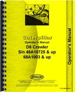 Operators Manual for Caterpillar D8H Crawler
