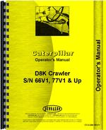 Operators Manual for Caterpillar D8K Crawler