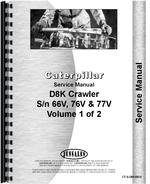 Service Manual for Caterpillar D8K Crawler