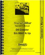Operators Manual for Caterpillar D9 Crawler