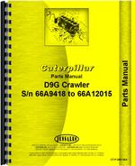Parts Manual for Caterpillar D9G Crawler