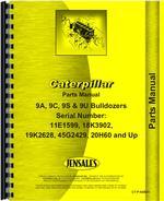 Parts Manual for Caterpillar D9H Crawler 9A Bulldozer Attachment