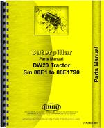 Parts Manual for Caterpillar DW20 Tractor Engine
