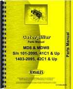 Parts Manual for Caterpillar MD8 Pipelayer