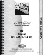 Operators Manual for Caterpillar R2 Crawler
