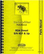Parts Manual for Caterpillar RD4 Crawler
