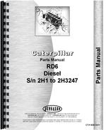 Parts Manual for Caterpillar RD6 Crawler