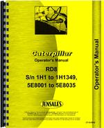 Operators Manual for Caterpillar RD8 Crawler