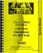 Service Manual for Caterpillar 7155 Truck Transmission