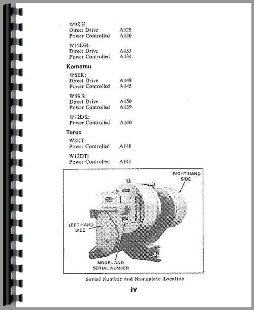 Operators Manual for Caterpillar W6FDD Hyster Winch Attachment Sample Page From Manual