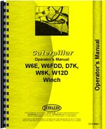 Operators Manual for Caterpillar W8K Hyster Winch Attachment