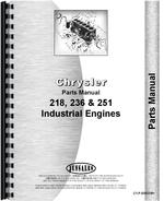 Parts Manual for Chrysler 218 Engine