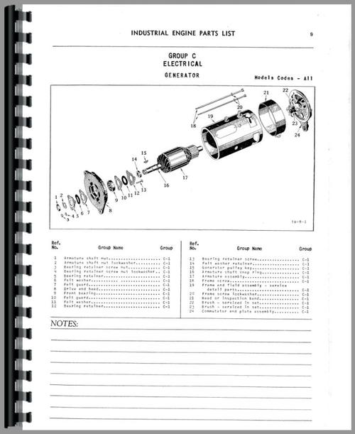 Parts Manual for Chrysler 236F Engine Sample Page From Manual