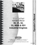 Operators Manual for Chrysler 931 Engine