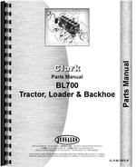 Parts Manual for Clark BL700 Tractor Loader Backhoe