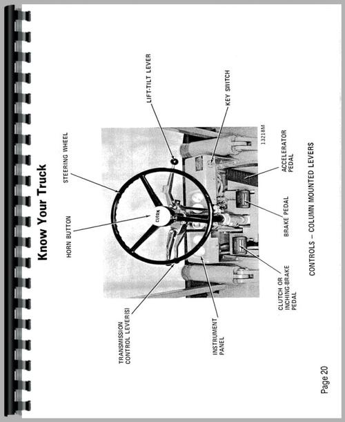 Operators Manual for Clark C500 20 Forklift Sample Page From Manual