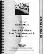 Operators Manual for Cockshutt 1800A Tractor
