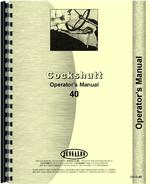 Operators Manual for Cockshutt 40 Tractor