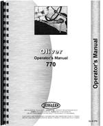 Operators Manual for Cockshutt 770 Tractor