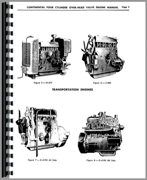 Service Manual for Continental Engines H-277 Engine Sample Page From Manual