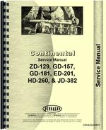 Service Manual for Continental Engines JD-382 Engine