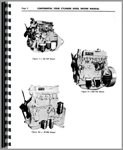 Service Manual for Continental Engines JD-403 Engine Sample Page From Manual