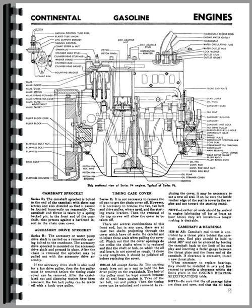 Service Manual for Continental Engines M6253 Engine Sample Page From Manual