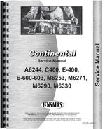 Service Manual for Continental Engines M6271 Engine