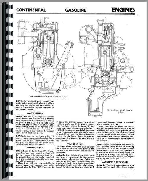 Service Manual for Continental Engines M6330 Engine Sample Page From Manual