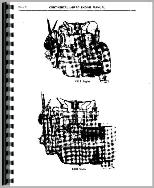 Service Manual for Continental Engines Y69 Engine Sample Page From Manual