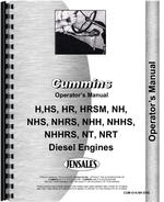 Operators Manual for Cummins NHRS Engine