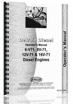 """Operators Manual for Detroit 6V-71, 8V-71, 12V-71, 16V-71 Engine"""