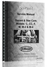 """Service Manual for Star Car C, CC, F, M, M-2, M-4 Automobile"""